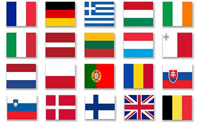 European 16 Nations Flag 150 x 90cm