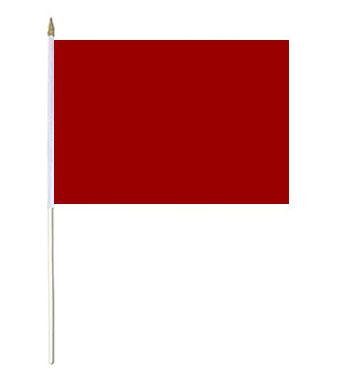 Burgundy Solid Colour Hand Waver Flag