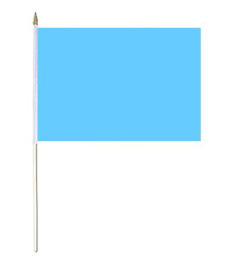 Light Blue Hand Waver Flag