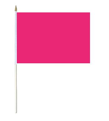 Magenta Solid Colour Hand Waver Flag