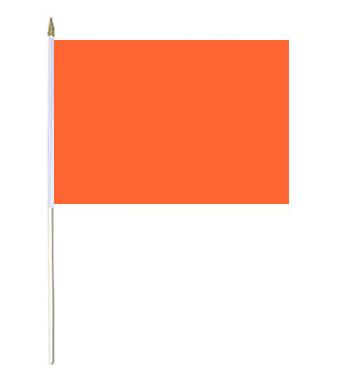 Orange Hand Waver Flag