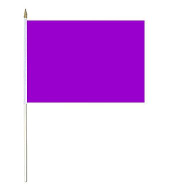 Purple Solid Colour Hand Waver Flag