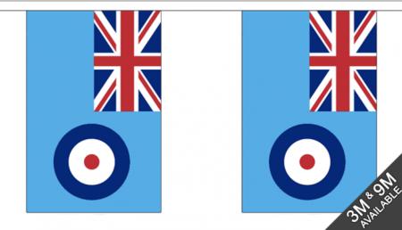 UK BRITAIN RAF Bunting String Flags - 9M 30 Flags