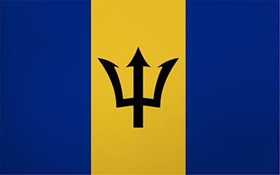 Barbados Decal Flag Sticker 13 x 9cm