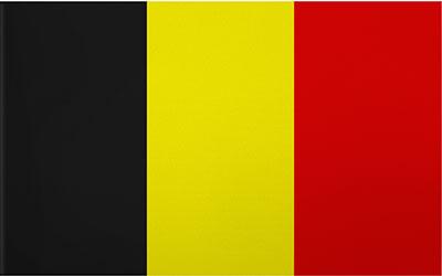 Belgium Decal Flag Sticker 13 x 9cm
