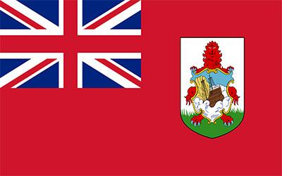 Bermuda Decal Flag Sticker 13 x 9cm