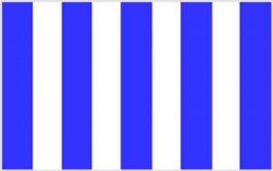 Stripe Royal Blue And White 150 x 90cm