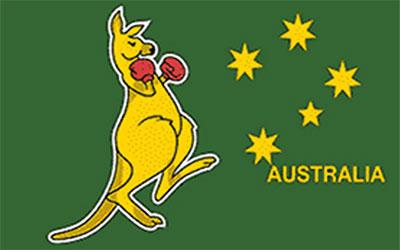 Boxing Kangaroo Flag 60 x 90cm
