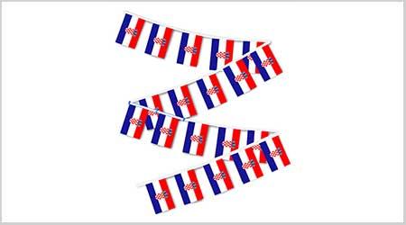 Croatia String Bunting Flags