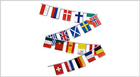 European Bunting Flags