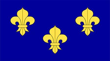 France Fleur De Lis - Blue Flag 150 X 90cm