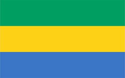 Gabon Country Flag