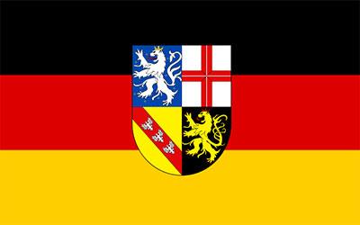 German Saarland Flag 150 x 90cm