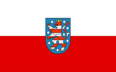 German Thuringen Flag 150 x 90cm