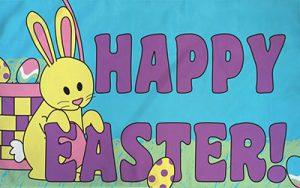 Happy Easter Bunny Flag 150 x 90cm