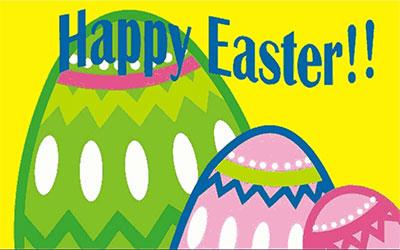 Happy Easter Egg Flag 150 x 90cm
