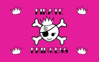 Pink Princess Pirate Flag 150 x 90cm