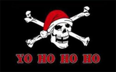 Pirate Santa Flag