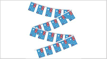 Royal Australian Air Force RAAF Bunting String Flags - 9M 30 Flags