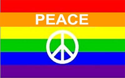 Peace Rainbow Flag 150 x 90cms