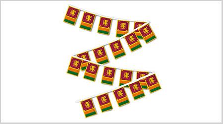 Sri Lanka String Bunting Flags