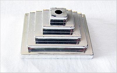 Single Hole Silver Base Table Flag