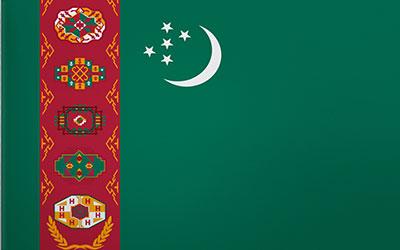 Turkmenistan National Flag 150 x 90cm