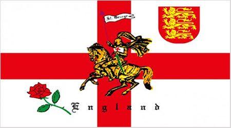 English Rose Lion Flag 150 x 90cm