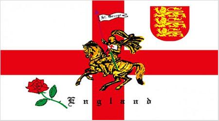 English Rose Lion Flag