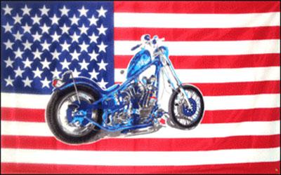 USA Motorcycle Flag 150 x 90cm