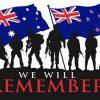 Australia NZ We Will Remember Flag